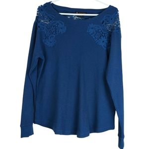 Love & Legend Lace Waffle Thermal Top